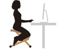 垂直に肘をつくことで生まれる自然なS字型姿勢は血液循環を良くし、思考力と集中力を高めます。