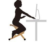 Active(動き) 従来の椅子には見られない動きのある座り方は体の自然な動きを促し、どんな姿勢も樂にとることができます。